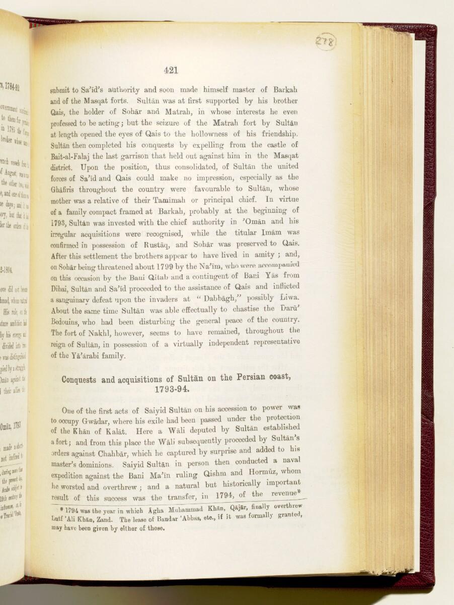 'Gazetteer of the Persian Gulf. Vol I. Historical. Part IA & IB. J G Lorimer. 1915' [421] (564/1782)