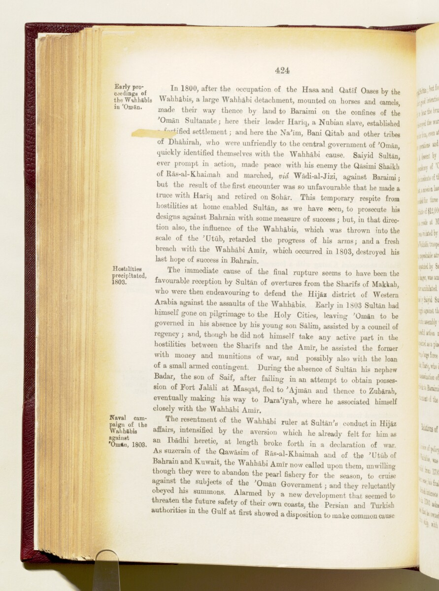 'Gazetteer of the Persian Gulf. Vol I. Historical. Part IA & IB. J G Lorimer. 1915' [424] (567/1782)