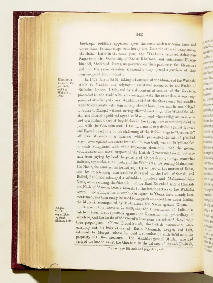 'Gazetteer of the Persian Gulf. Vol I. Historical. Part IA & IB. J G Lorimer. 1915' [442] (585/1782)