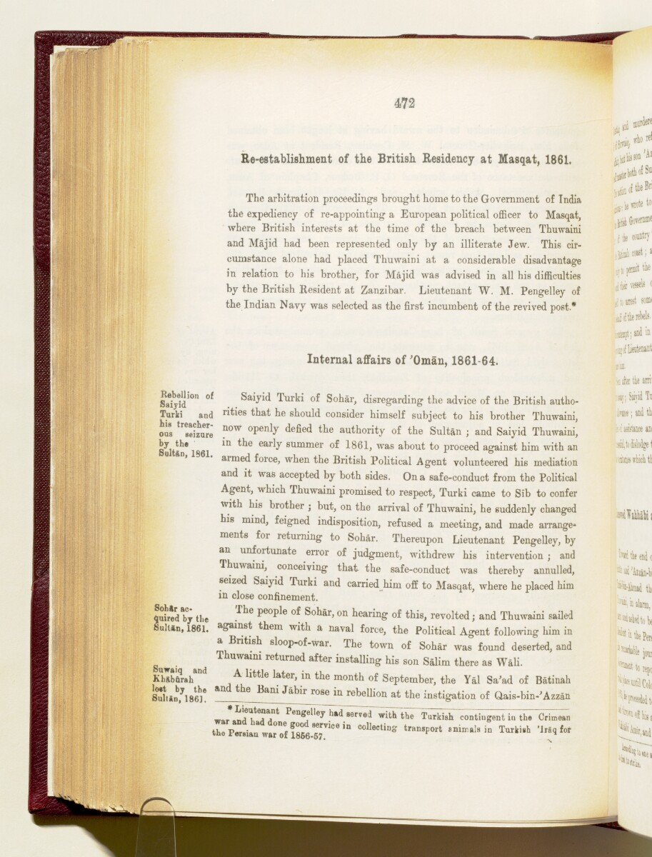 'Gazetteer of the Persian Gulf. Vol I. Historical. Part IA & IB. J G Lorimer. 1915' [472] (615/1782)