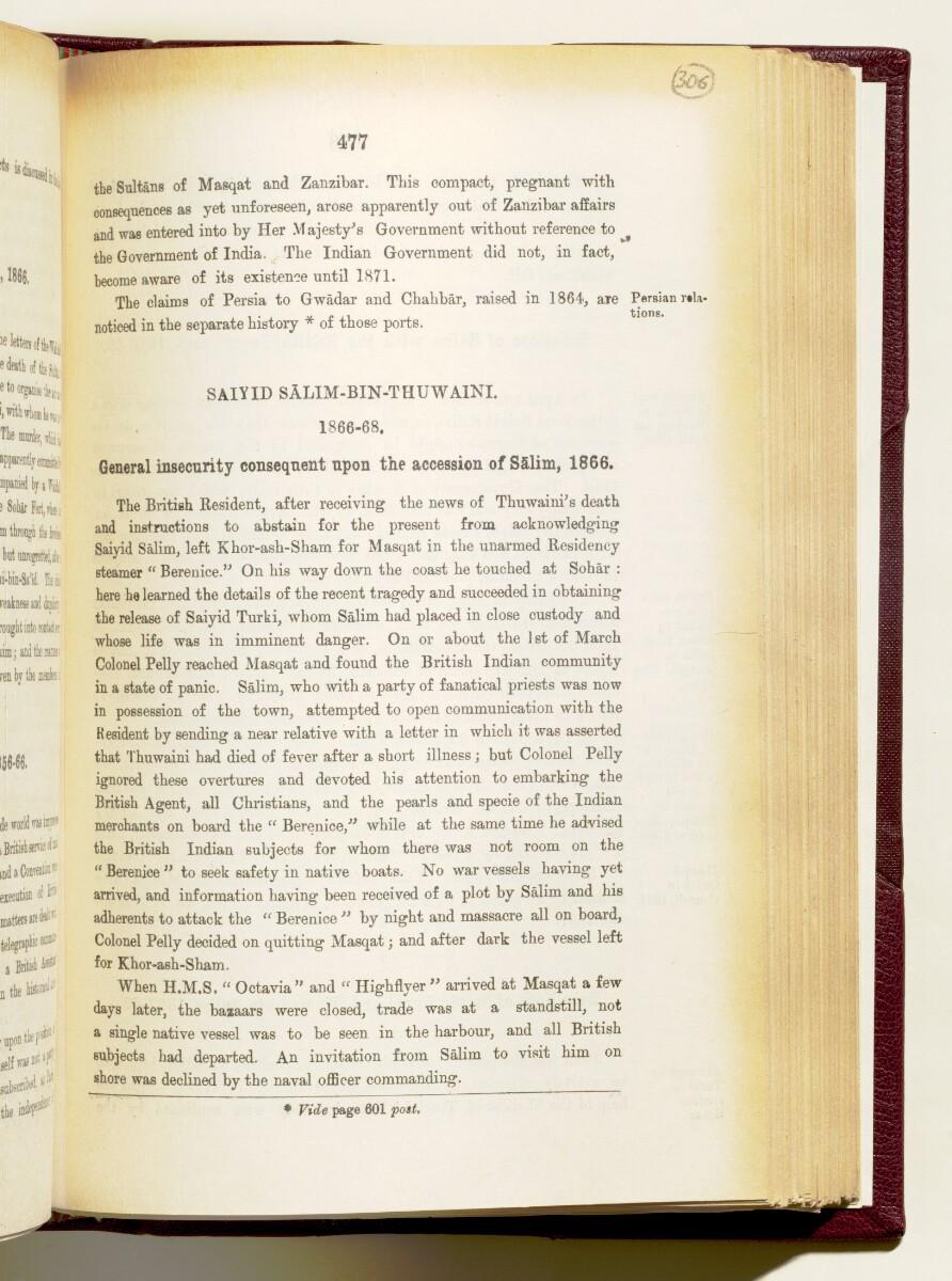 'Gazetteer of the Persian Gulf. Vol I. Historical. Part IA & IB. J G Lorimer. 1915' [477] (620/1782)