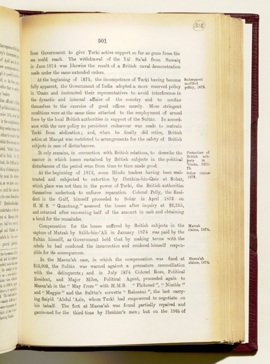 'Gazetteer of the Persian Gulf. Vol I. Historical. Part IA & IB. J G Lorimer. 1915' [501] (644/1782)