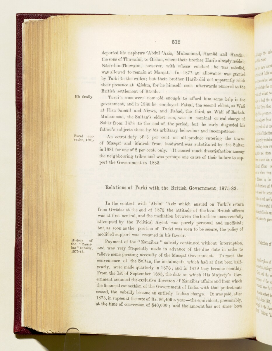 'Gazetteer of the Persian Gulf. Vol I. Historical. Part IA & IB. J G Lorimer. 1915' [512] (655/1782)