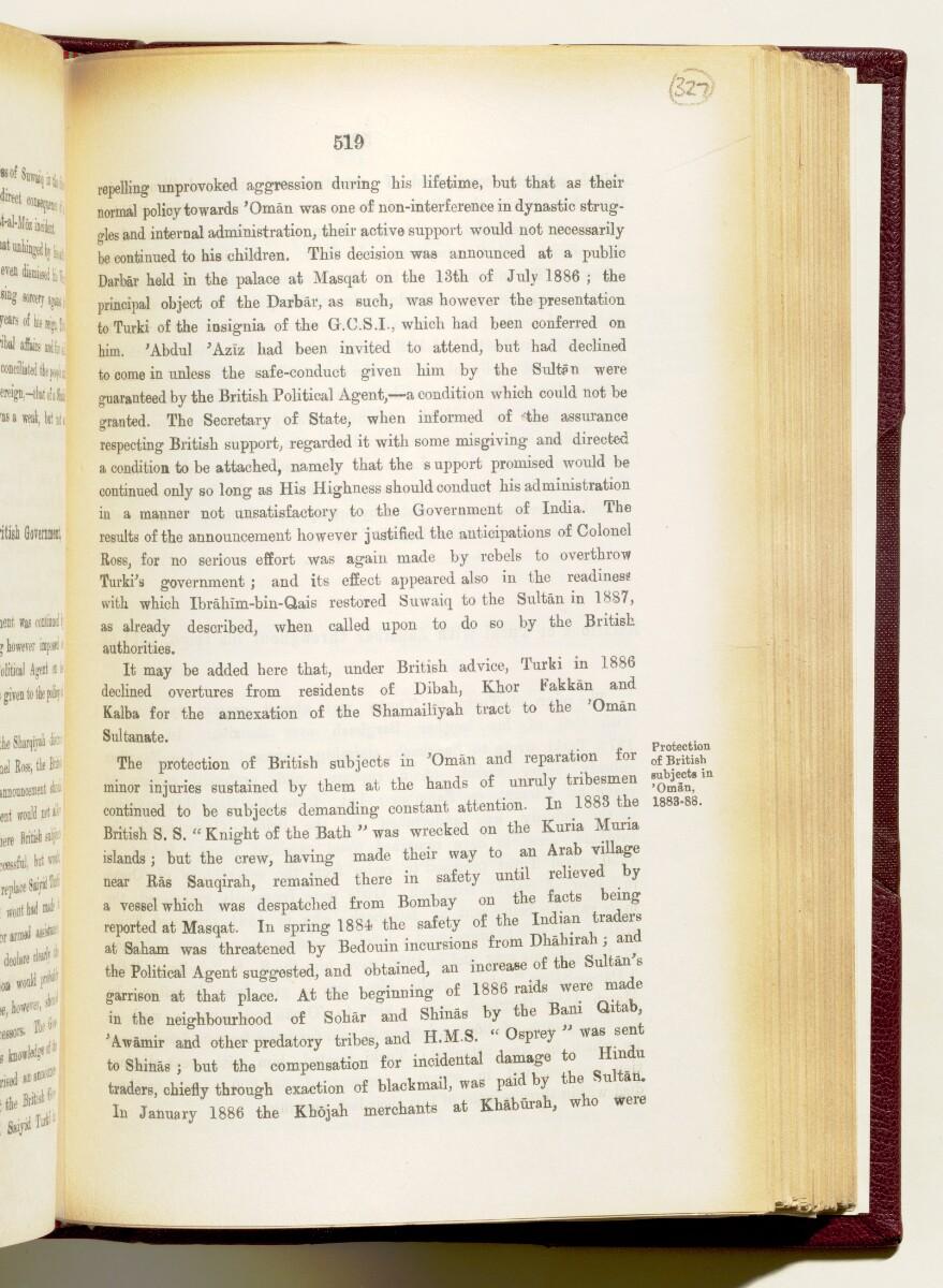 'Gazetteer of the Persian Gulf. Vol I. Historical. Part IA & IB. J G Lorimer. 1915' [519] (662/1782)