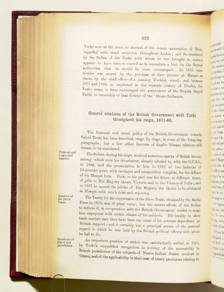 'Gazetteer of the Persian Gulf. Vol I. Historical. Part IA & IB. J G Lorimer. 1915' [522] (665/1782)