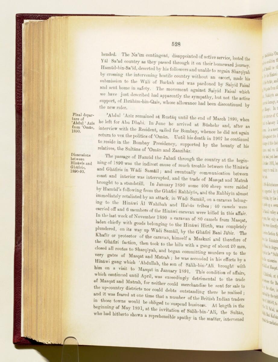 'Gazetteer of the Persian Gulf. Vol I. Historical. Part IA & IB. J G Lorimer. 1915' [528] (671/1782)