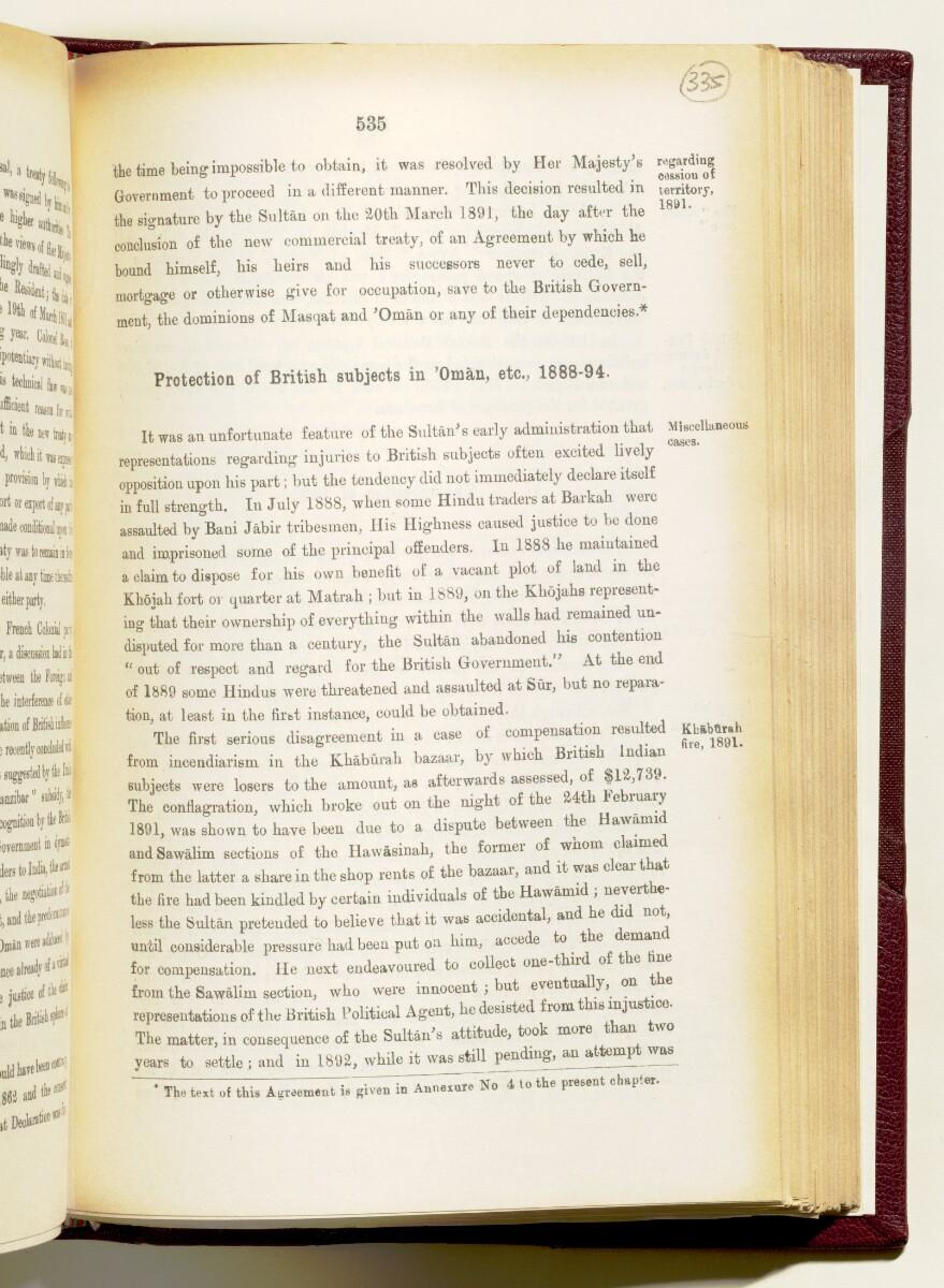 'Gazetteer of the Persian Gulf. Vol I. Historical. Part IA & IB. J G Lorimer. 1915' [535] (678/1782)