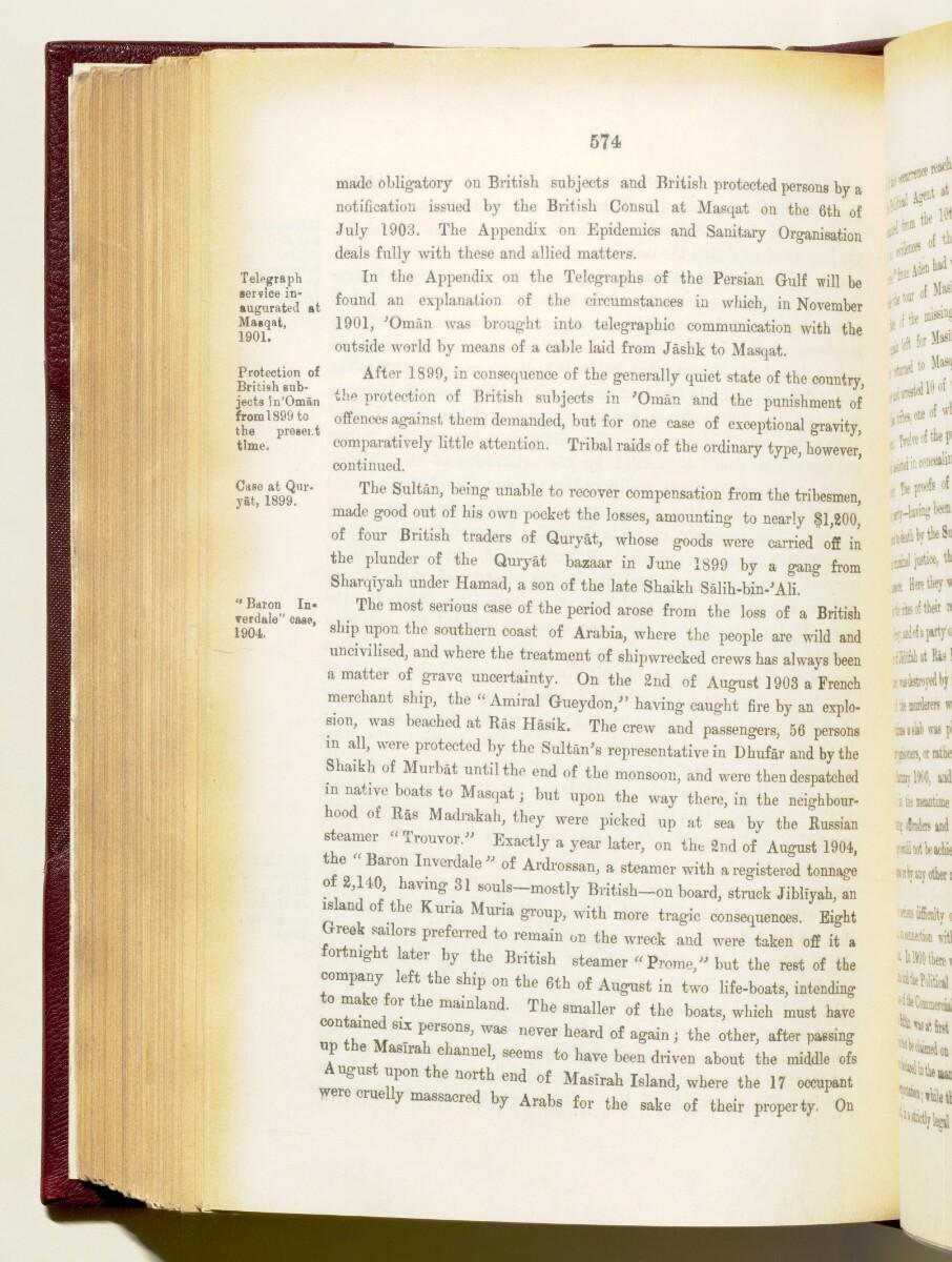 'Gazetteer of the Persian Gulf. Vol I. Historical. Part IA & IB. J G Lorimer. 1915' [574] (717/1782)