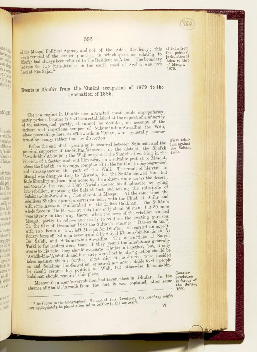 'Gazetteer of the Persian Gulf. Vol I. Historical. Part IA & IB. J G Lorimer. 1915' [593] (736/1782)