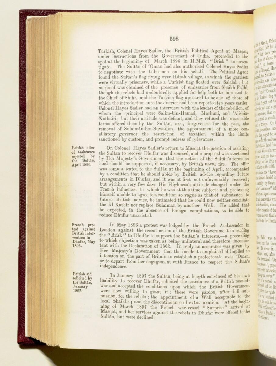 'Gazetteer of the Persian Gulf. Vol I. Historical. Part IA & IB. J G Lorimer. 1915' [598] (741/1782)