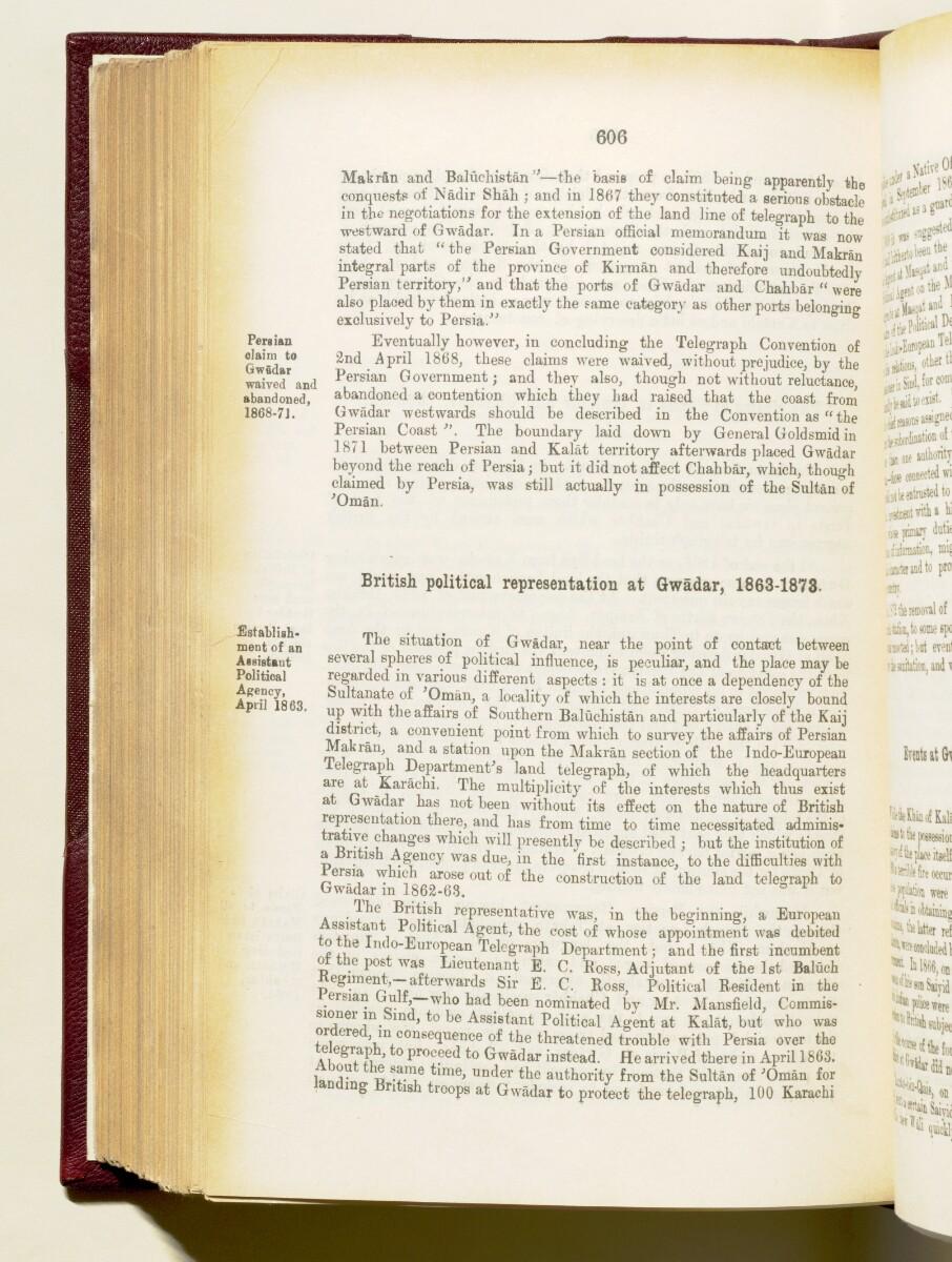 'Gazetteer of the Persian Gulf. Vol I. Historical. Part IA & IB. J G Lorimer. 1915' [606] (749/1782)