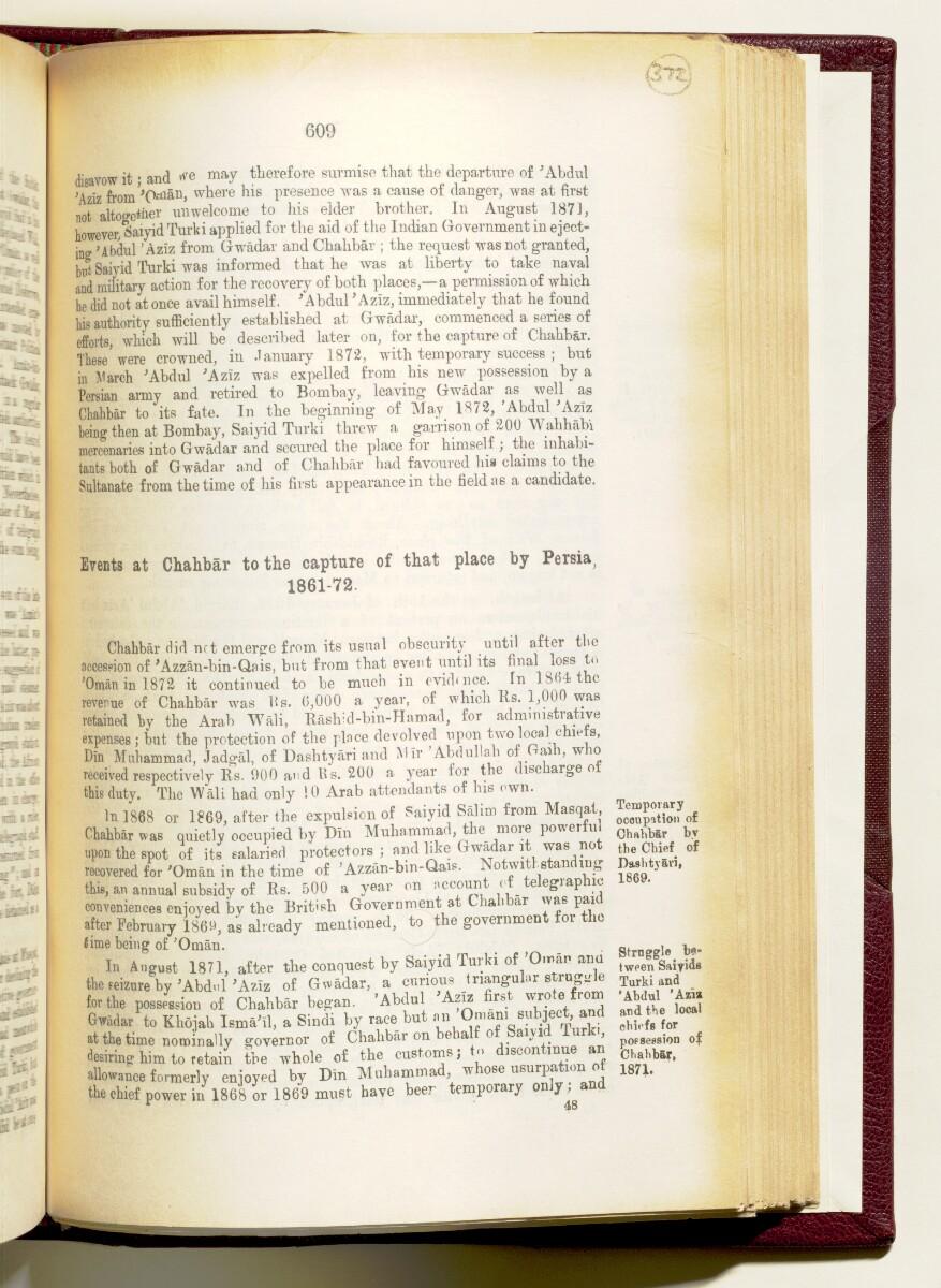 'Gazetteer of the Persian Gulf. Vol I. Historical. Part IA & IB. J G Lorimer. 1915' [609] (752/1782)