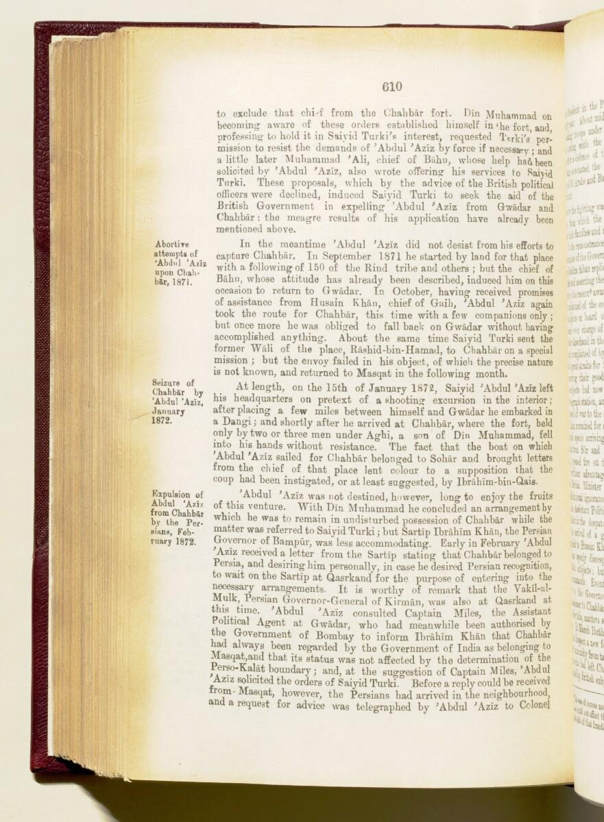 'Gazetteer of the Persian Gulf. Vol I. Historical. Part IA & IB. J G Lorimer. 1915' [610] (753/1782)