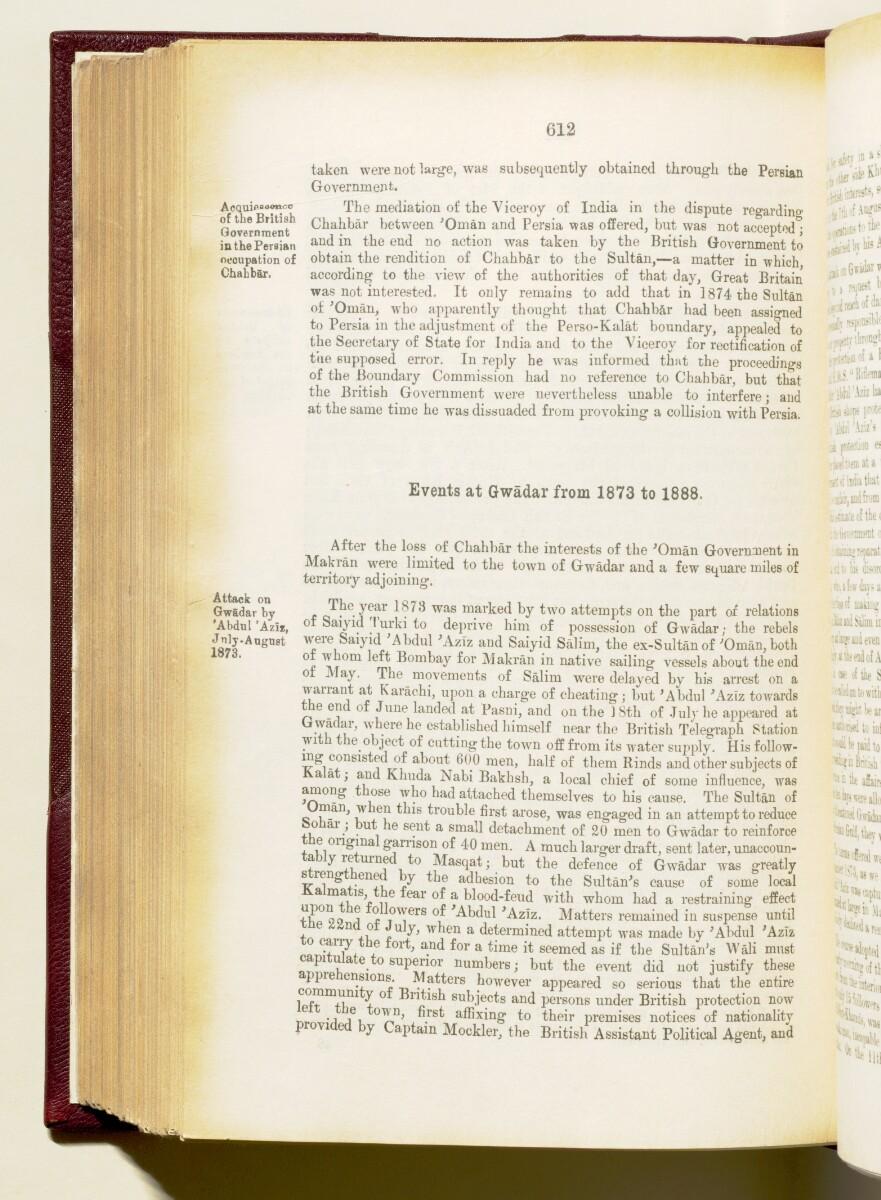 'Gazetteer of the Persian Gulf. Vol I. Historical. Part IA & IB. J G Lorimer. 1915' [612] (755/1782)