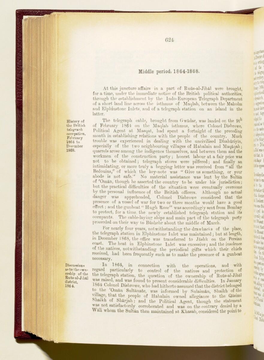 'Gazetteer of the Persian Gulf. Vol I. Historical. Part IA & IB. J G Lorimer. 1915' [624] (767/1782)
