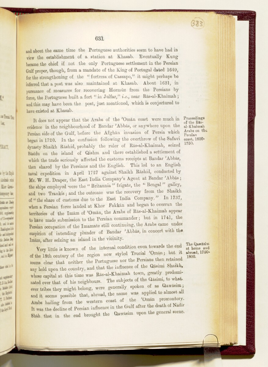 'Gazetteer of the Persian Gulf. Vol I. Historical. Part IA & IB. J G Lorimer. 1915' [631] (774/1782)