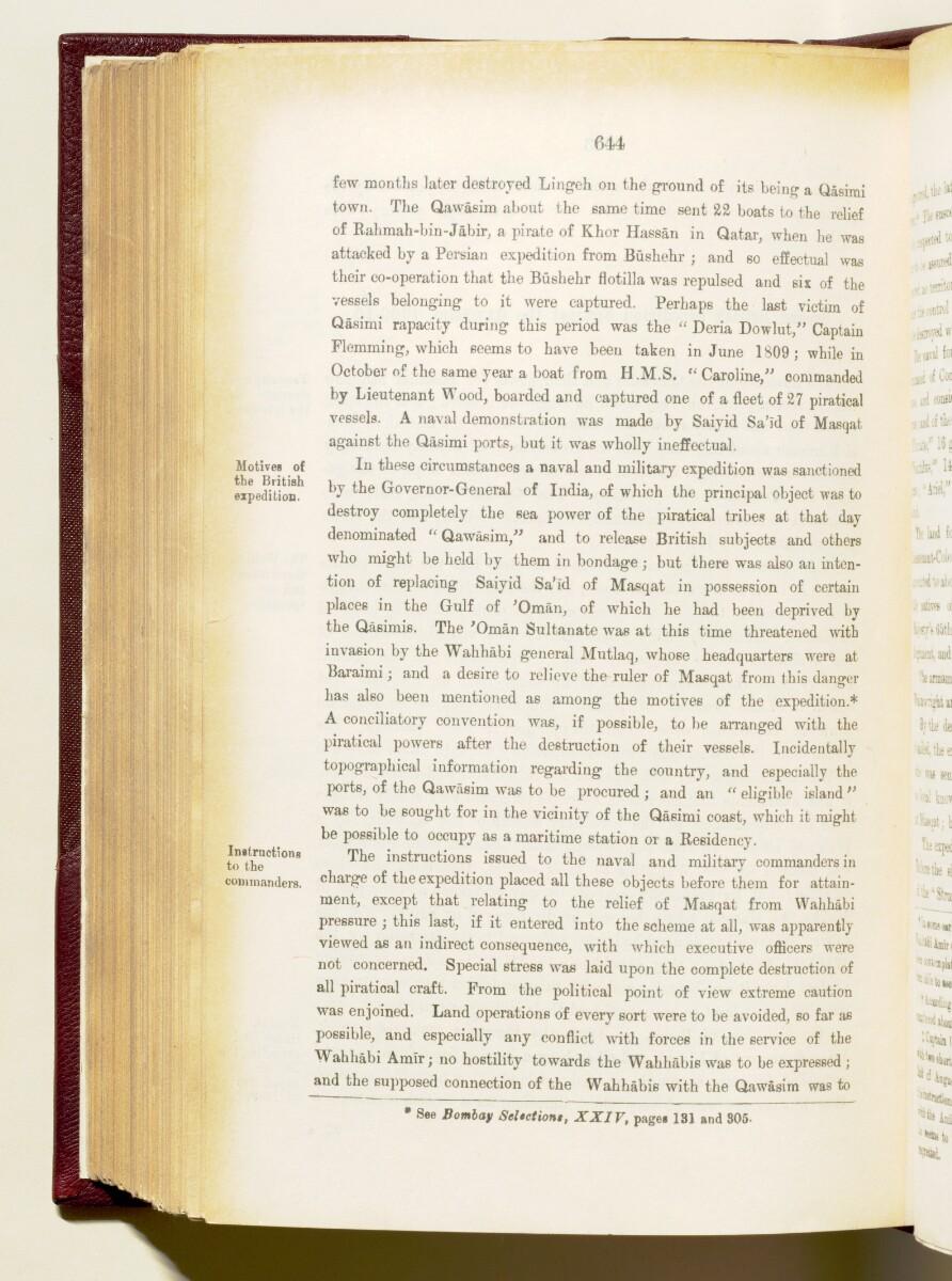 'Gazetteer of the Persian Gulf. Vol I. Historical. Part IA & IB. J G Lorimer. 1915' [644] (787/1782)