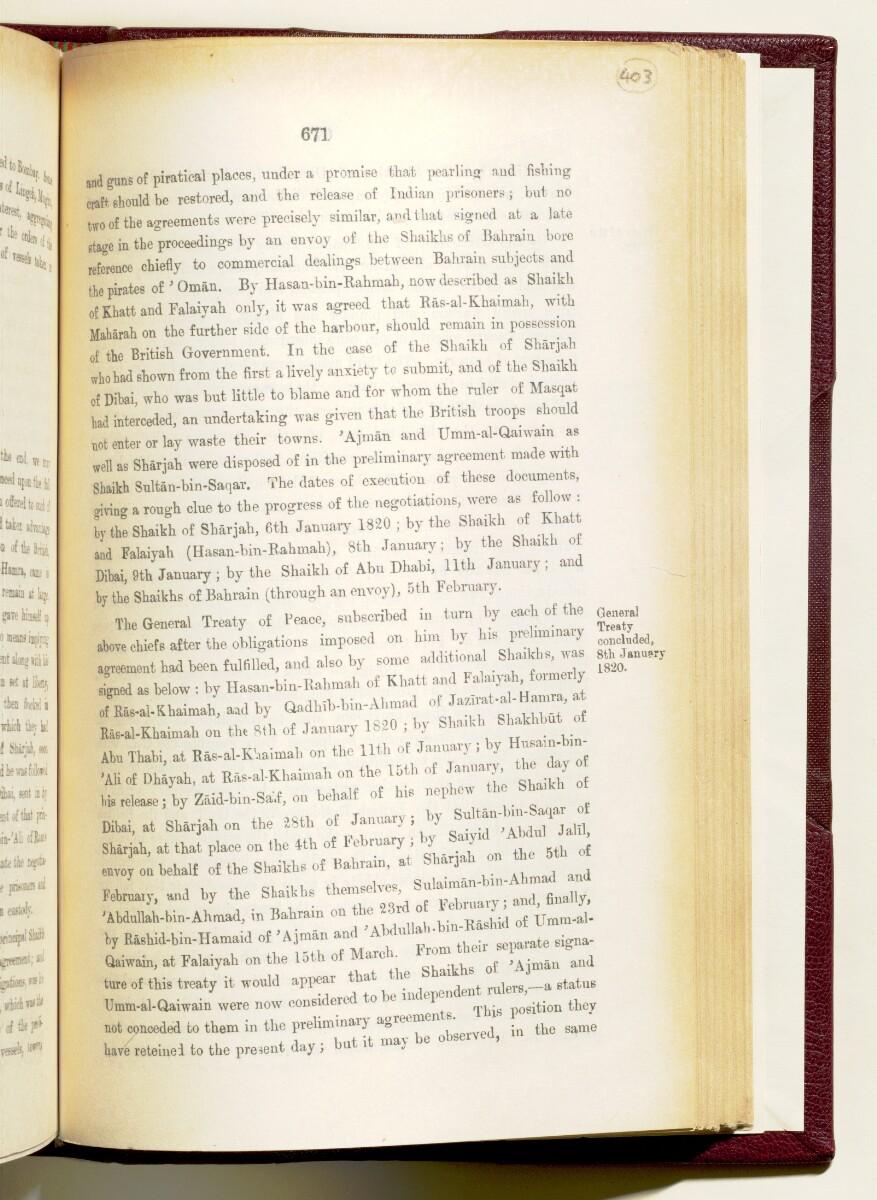 'Gazetteer of the Persian Gulf. Vol I. Historical. Part IA & IB. J G Lorimer. 1915' [671] (814/1782)