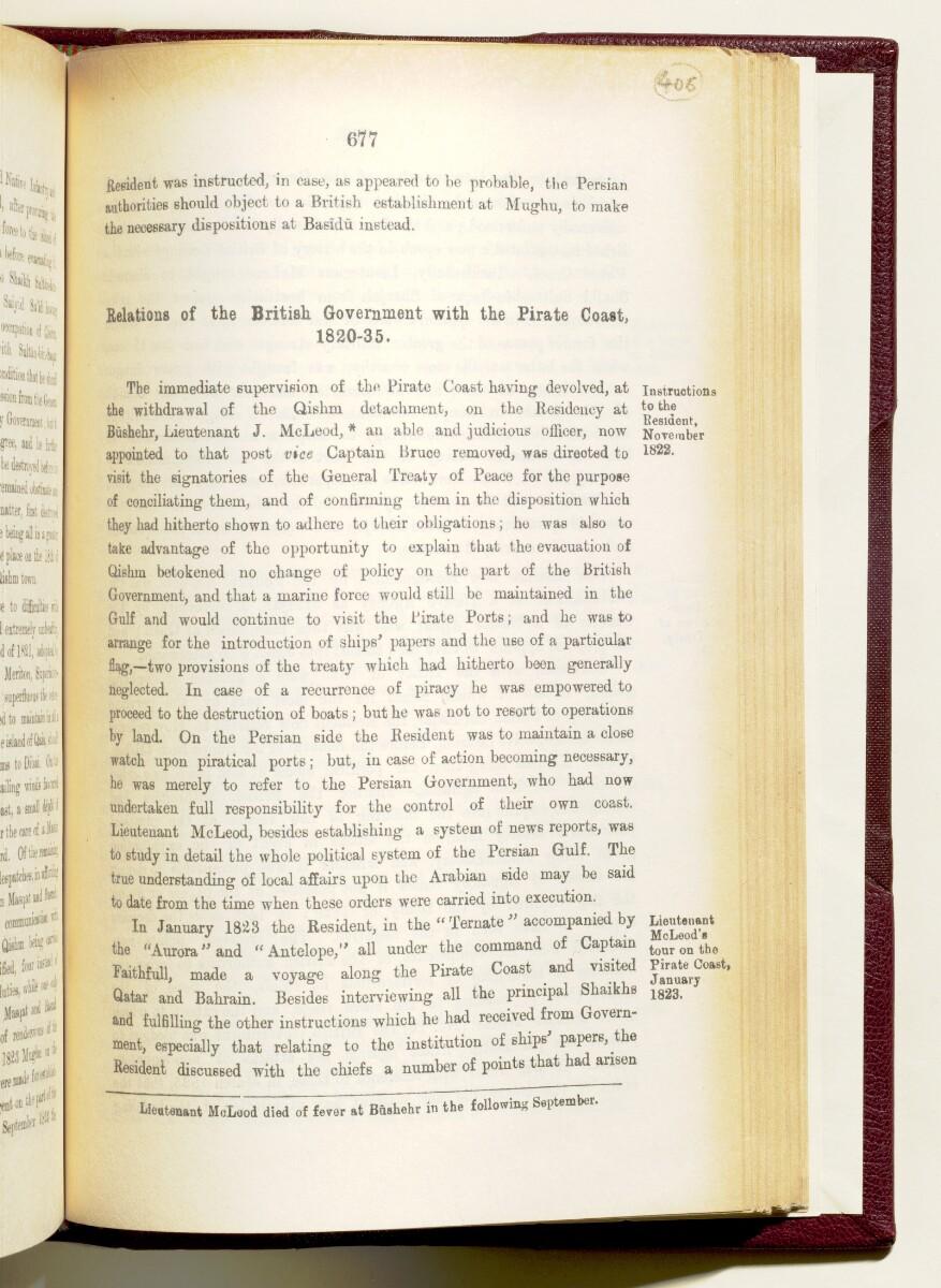 'Gazetteer of the Persian Gulf. Vol I. Historical. Part IA & IB. J G Lorimer. 1915' [677] (820/1782)
