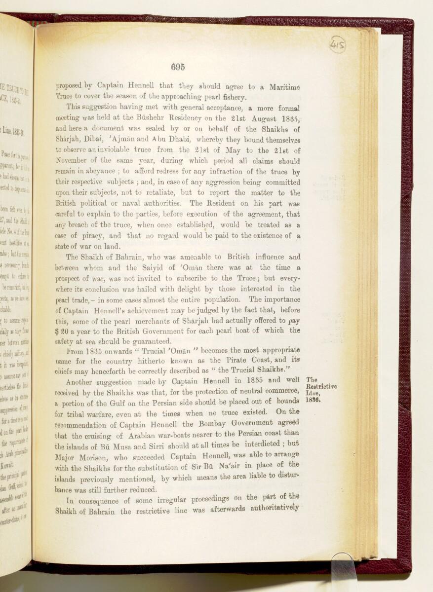 'Gazetteer of the Persian Gulf. Vol I. Historical. Part IA & IB. J G Lorimer. 1915' [695] (838/1782)