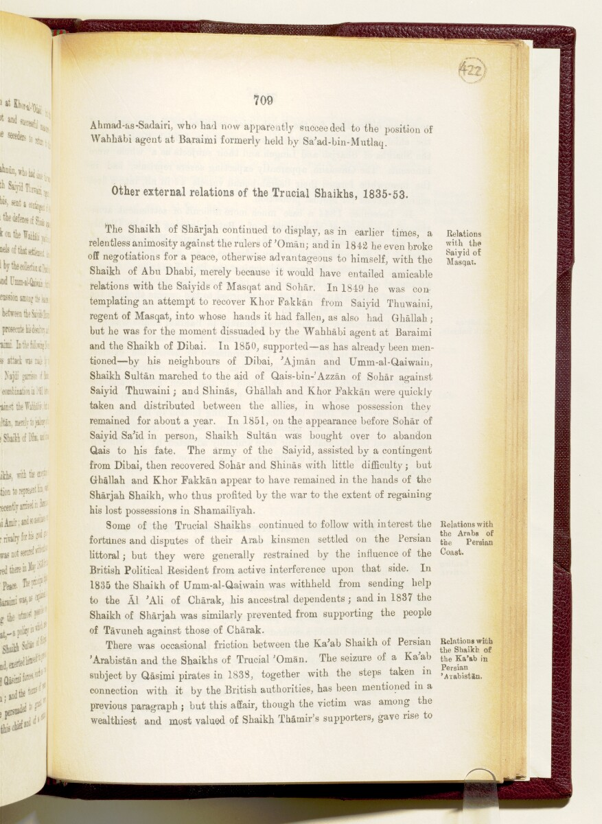 'Gazetteer of the Persian Gulf. Vol I. Historical. Part IA & IB. J G Lorimer. 1915' [709] (852/1782)