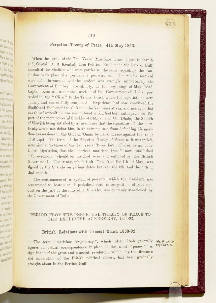 'Gazetteer of the Persian Gulf. Vol I. Historical. Part IA & IB. J G Lorimer. 1915' [719] (862/1782)