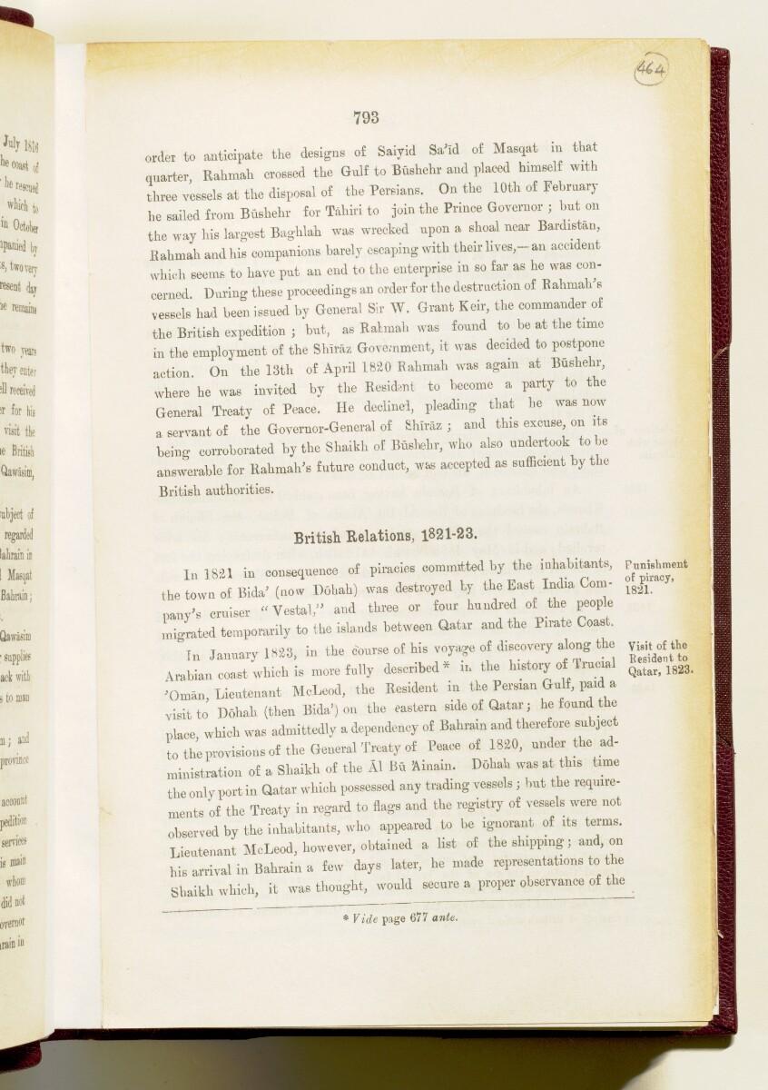 'Gazetteer of the Persian Gulf. Vol I. Historical. Part IA & IB. J G Lorimer. 1915' [793] (948/1782)