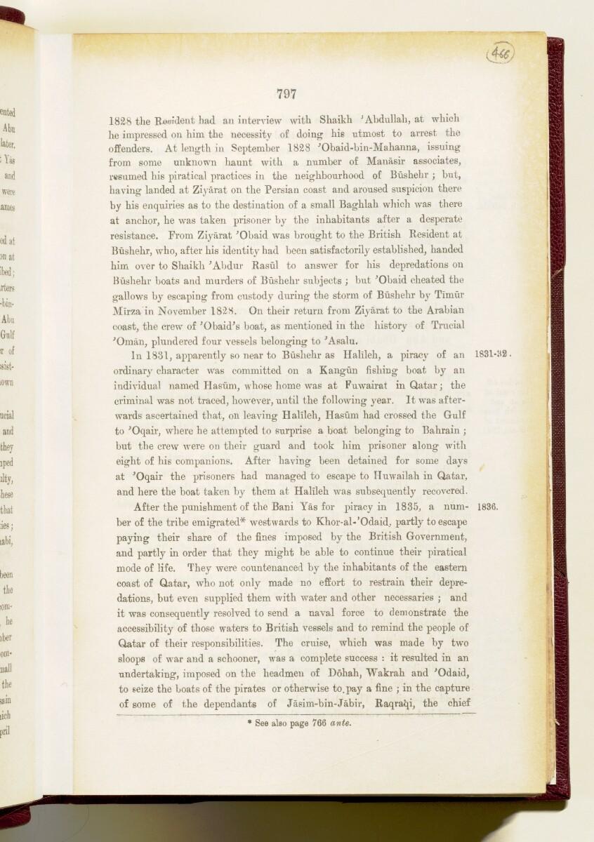 'Gazetteer of the Persian Gulf. Vol I. Historical. Part IA & IB. J G Lorimer. 1915' [797] (952/1782)