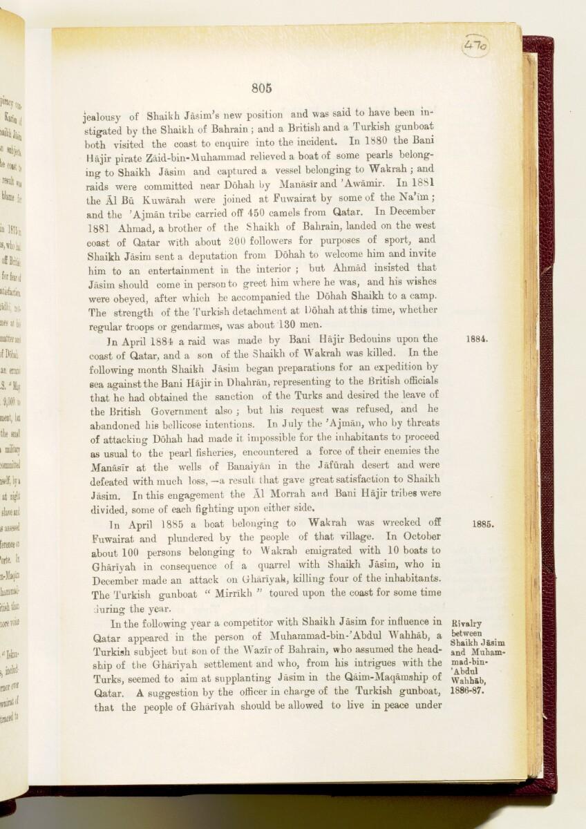'Gazetteer of the Persian Gulf. Vol I. Historical. Part IA & IB. J G Lorimer. 1915' [805] (960/1782)