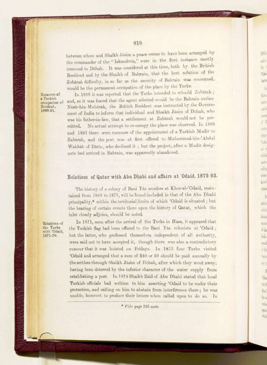 'Gazetteer of the Persian Gulf. Vol I. Historical. Part IA & IB. J G Lorimer. 1915' [818] (973/1782)