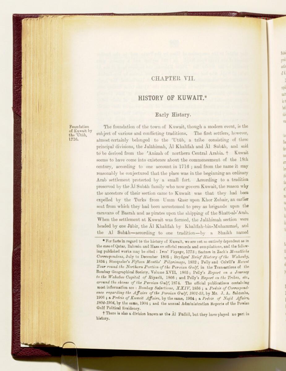 'Gazetteer of the Persian Gulf. Vol I. Historical. Part IA & IB. J G Lorimer. 1915' [1000] (1155/1782)