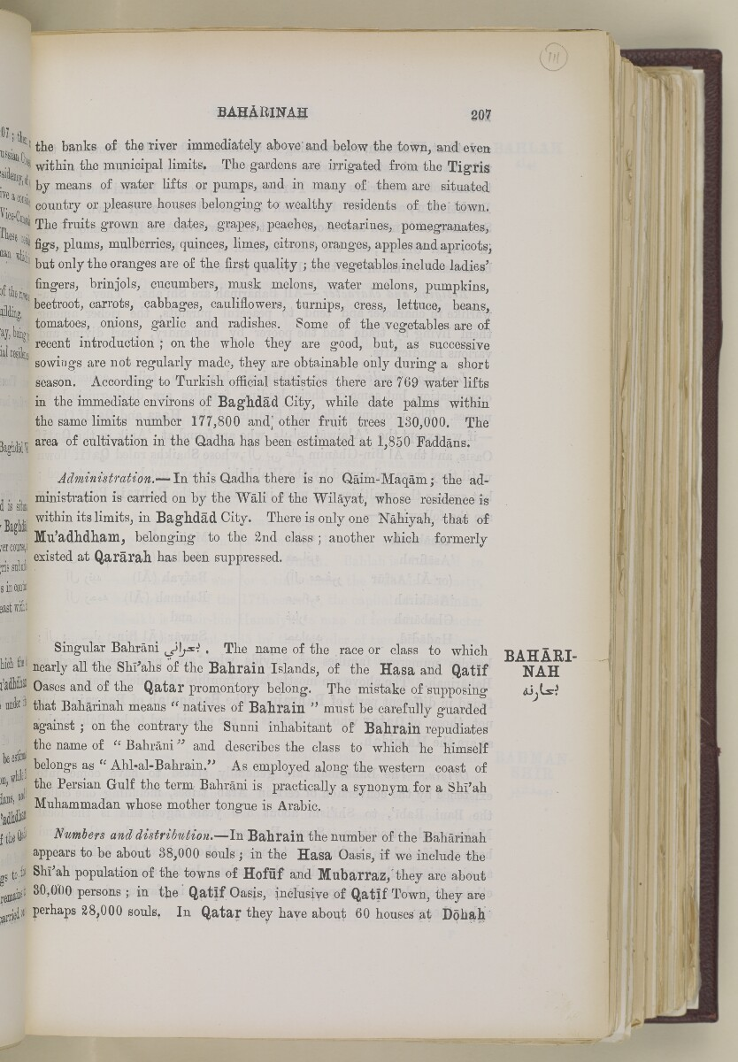 'Gazetteer of the Persian Gulf. Vol. II. Geographical and Statistical. J G Lorimer. 1908' [207] (230/2084)