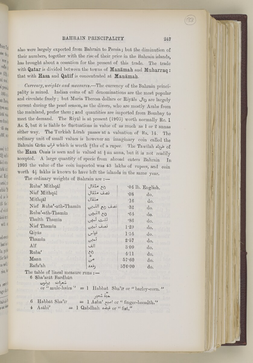 'Gazetteer of the Persian Gulf. Vol. II. Geographical and Statistical. J G Lorimer. 1908' [247] (274/2084)