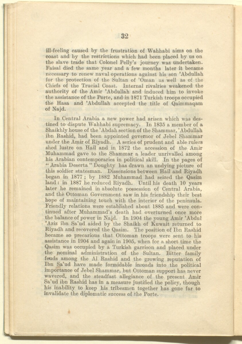 'A sketch of the political history of Persia, Iraq and Arabia, with special reference to the present campaign.' [32] (42/58)
