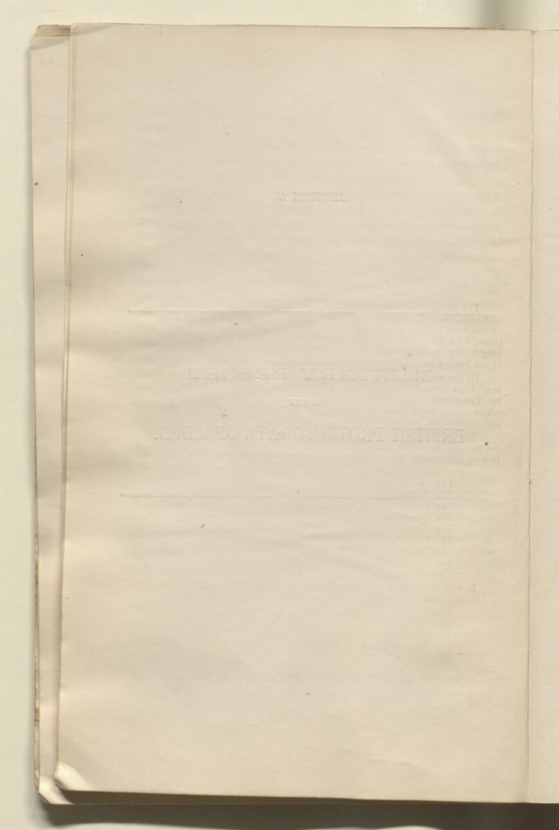'Military report on the British Protectorate of Aden and the Amir of Dala's territories, with special reports on certain other tribes and adjoining border districts' [‎9v] (23/490)