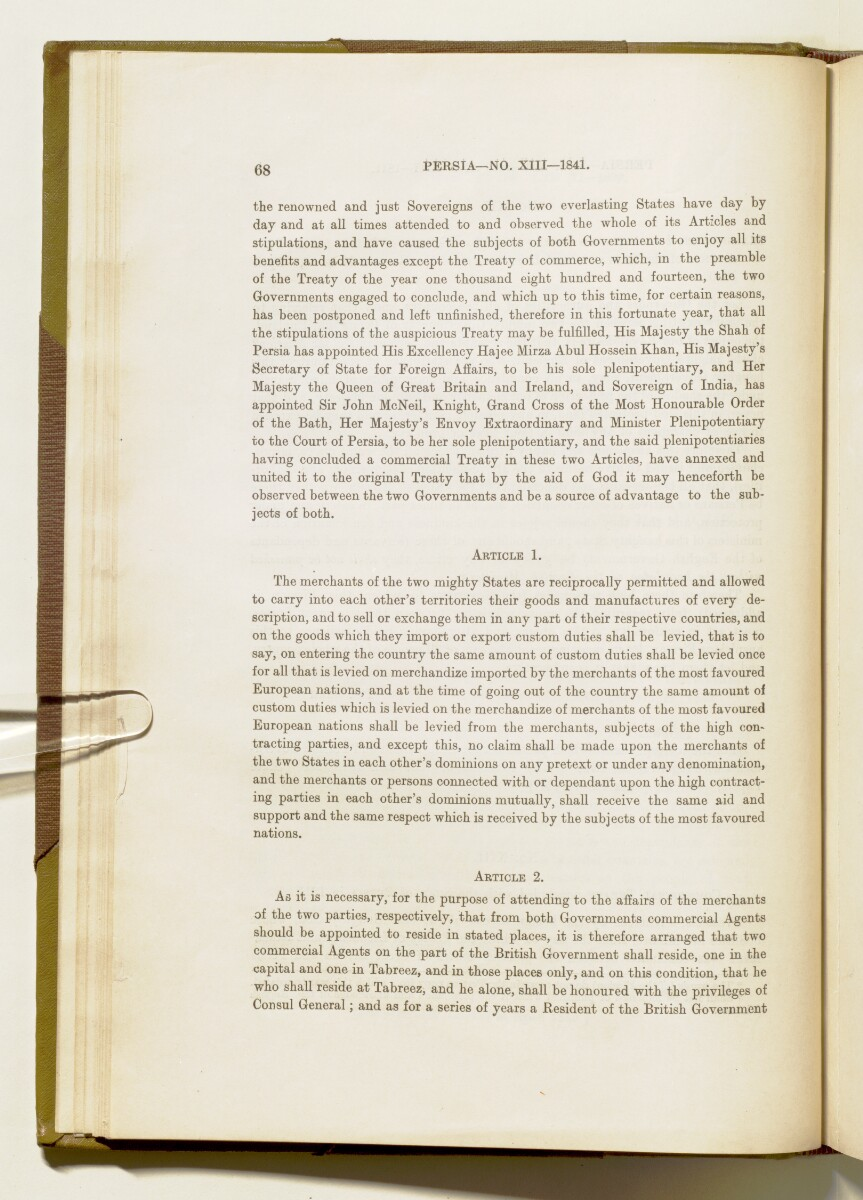 'A collection of treaties, engagements and sanads relating to India and neighbouring countries' [‎68] (85/578)