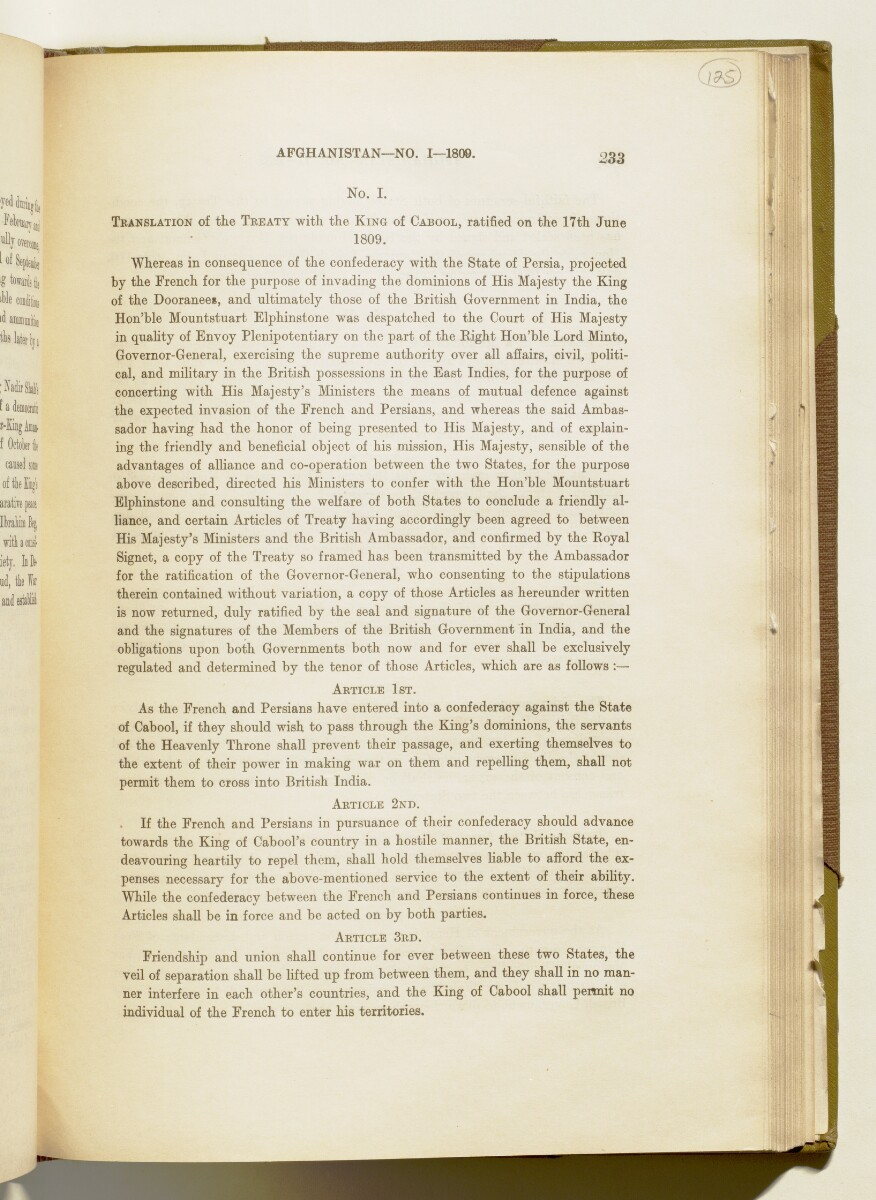 'A collection of treaties, engagements and sanads relating to India and neighbouring countries' [‎233] (250/578)