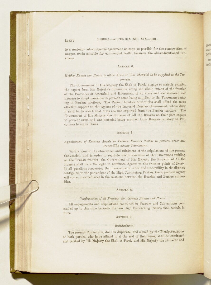'A collection of treaties, engagements and sanads relating to India and neighbouring countries' [74] (397/578)
