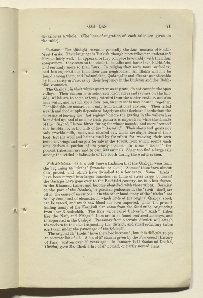 """""""تصحيحات لدليل بلاد فارس. المجلد III"""" [<span dir=""""ltr"""">و٧١</span>] (١٨٠/١٤٣)"""