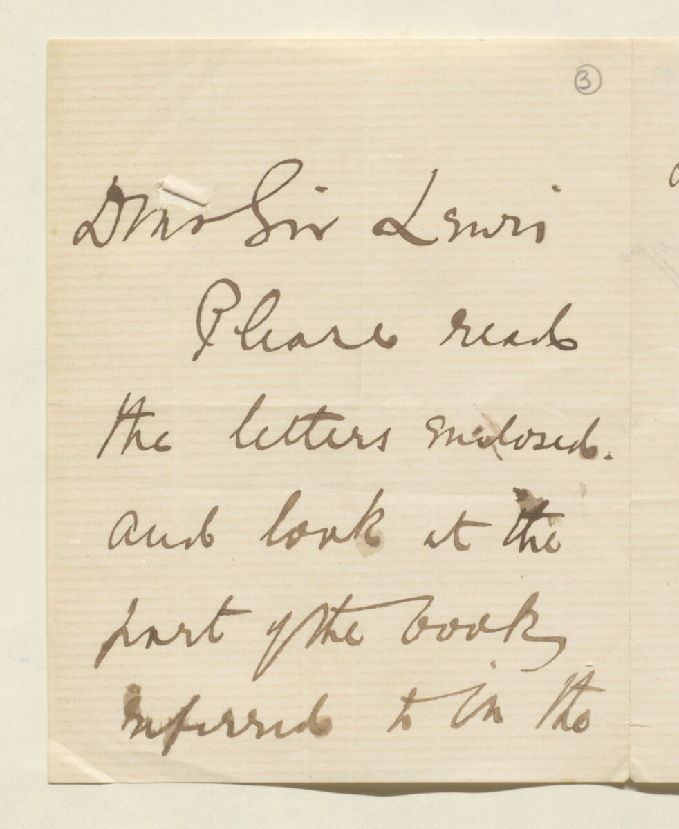 Letter from Lord Elcho to Lewis Pelly [‎3r] (1/12)