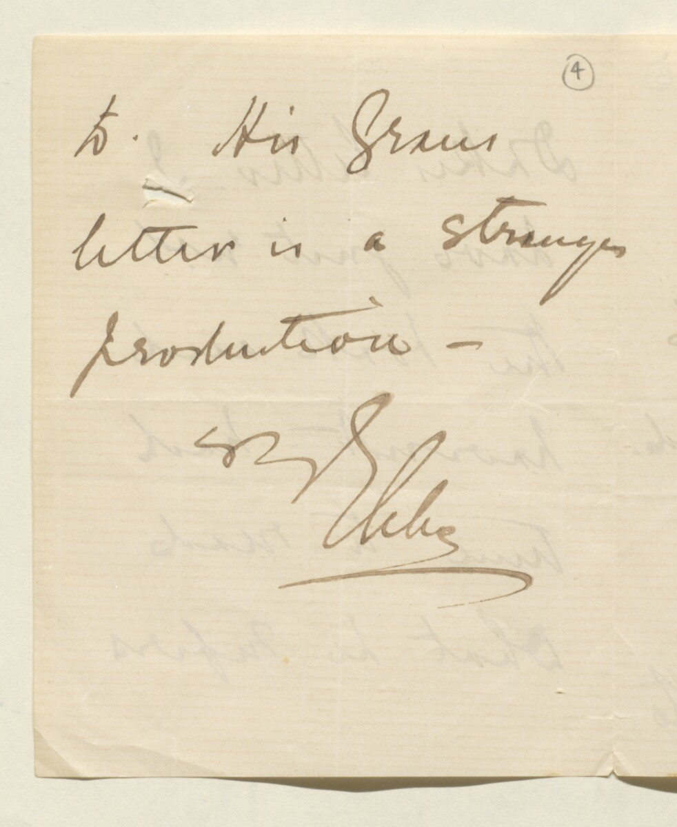 Letter from Lord Elcho to Lewis Pelly [‎4r] (3/12)