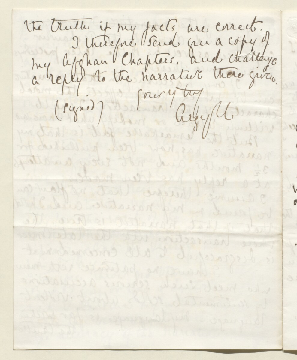 Letter from Lord Elcho to Lewis Pelly [‎6v] (8/12)