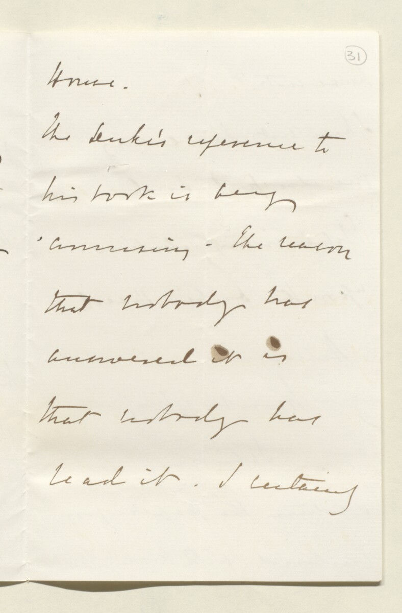 Letter from Lord Salisbury, 20 Arlington Street, to Lewis Pelly [‎31r] (3/4)