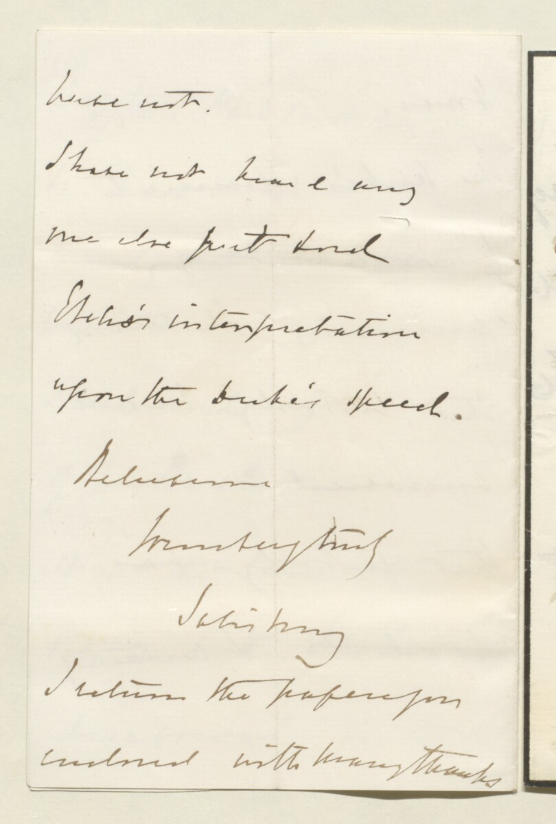 Letter from Lord Salisbury, 20 Arlington Street, to Lewis Pelly [‎31v] (4/4)