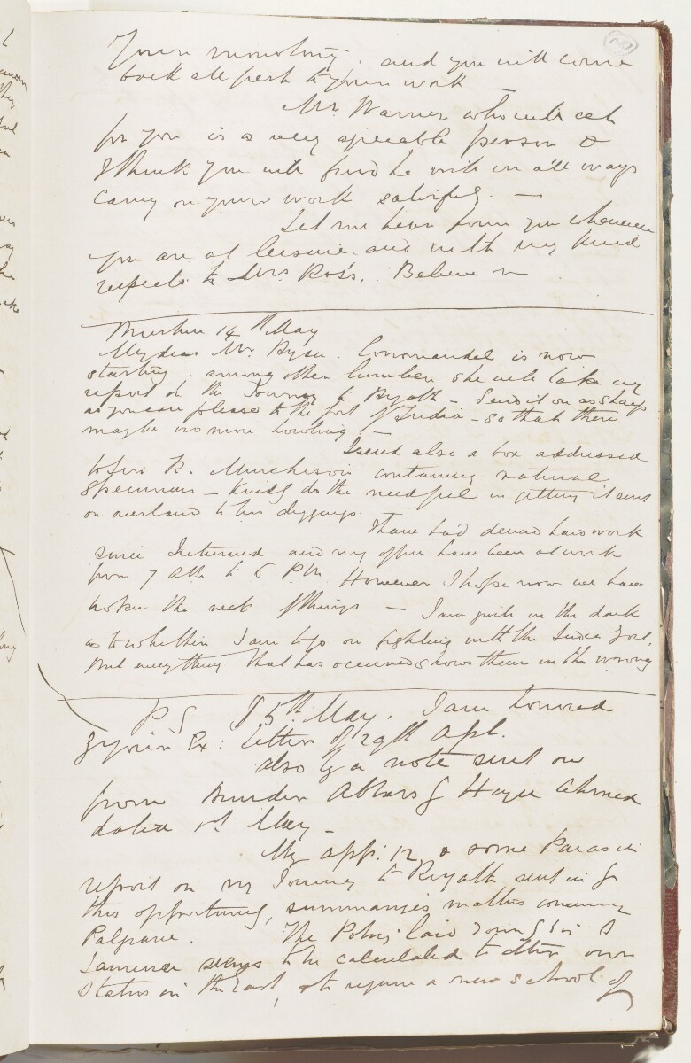 Letter from Lewis Pelly, Bushire, to Sir Bartle Frere [‎30r] (7/7)