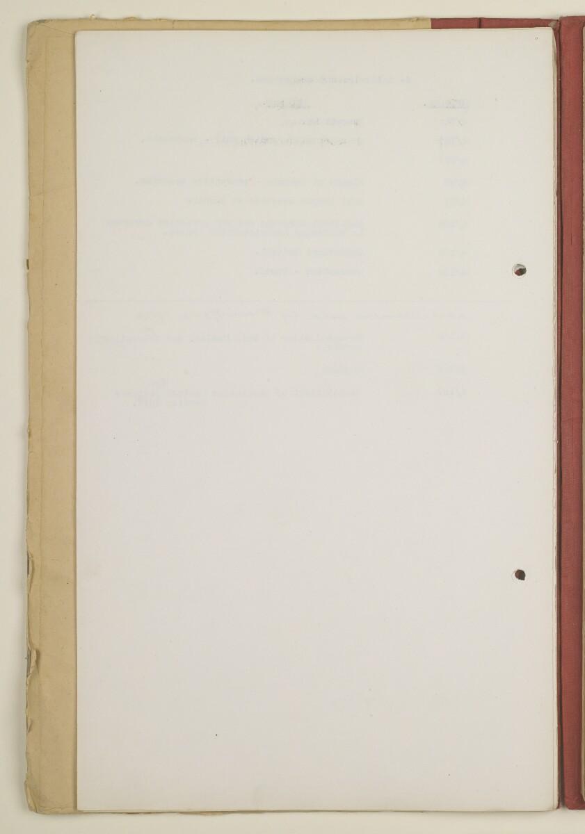 'Original C.O. [Confidential Office] File Register' [9v] (18/252)