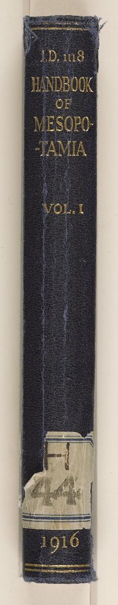 ''Handbook of Mesopotamia. Vol. I. 1916'' [spine] (3/377)