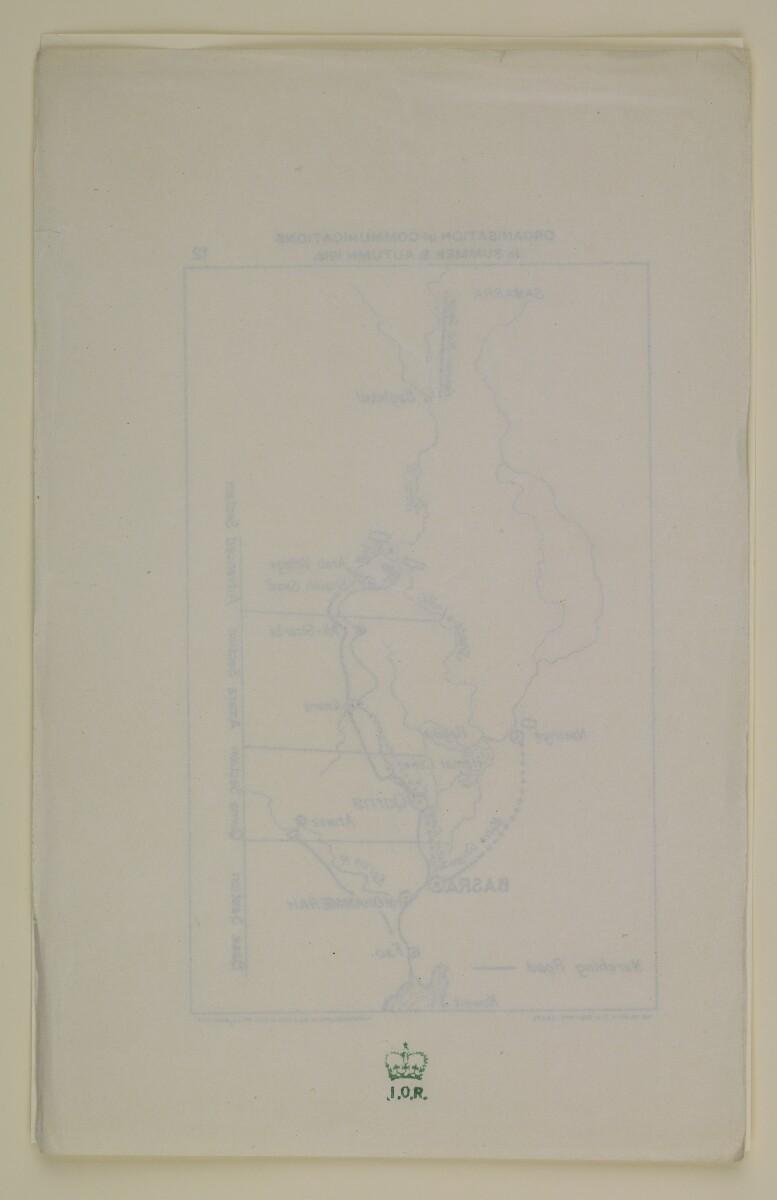 '12. Organisation of Communications in Summer & Autumn 1916' [23v] (2/2)