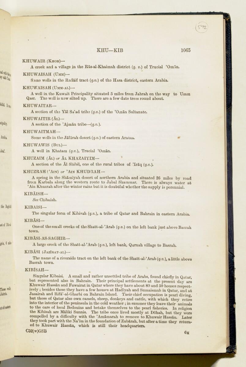 'Gazetteer of Arabia Vol. II' [1065] (102/688)
