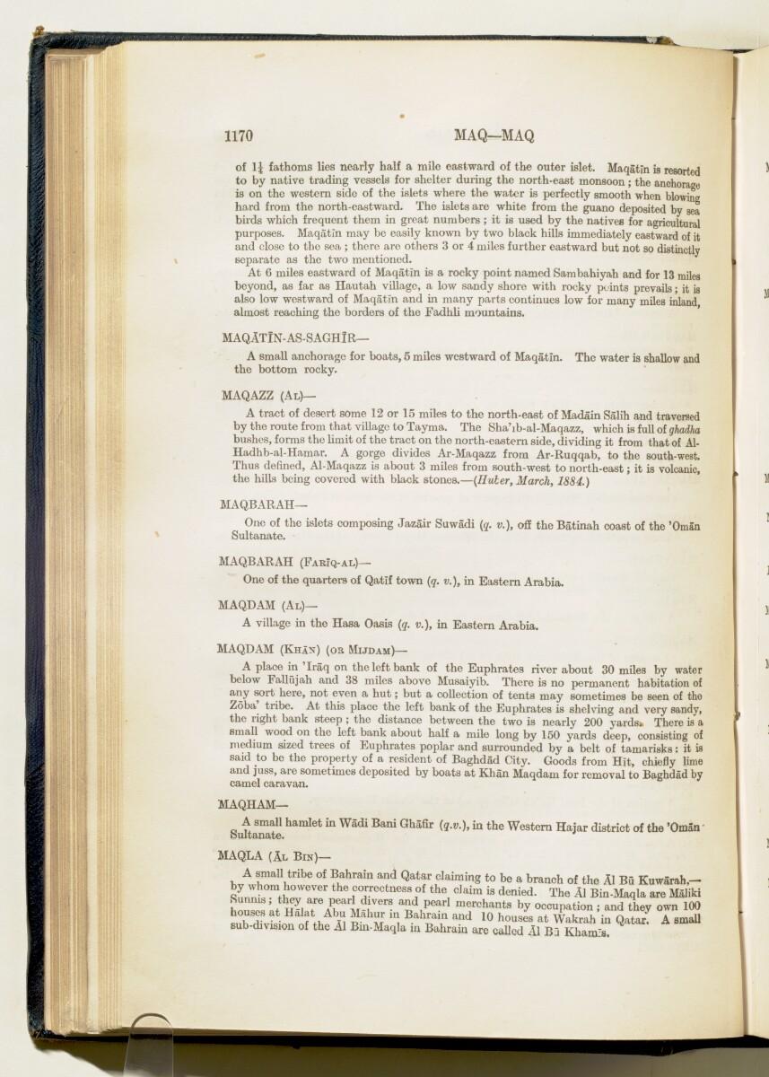 'Gazetteer of Arabia Vol. II' [1170] (219/688)
